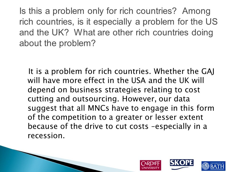 It is a problem for rich countries.