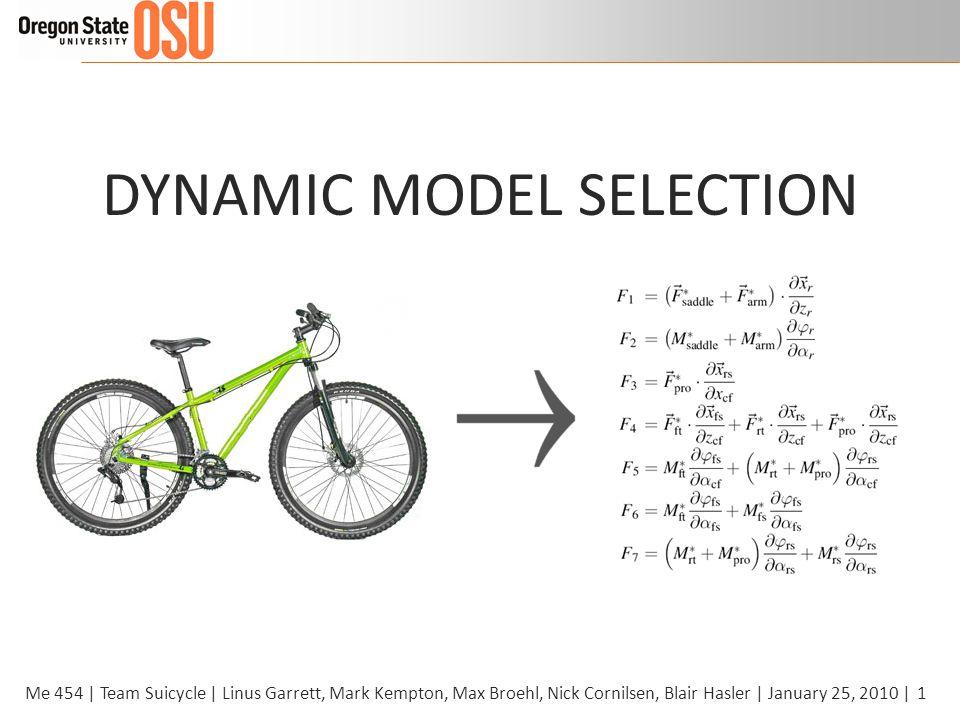 1Me 454 | Team Suicycle | Linus Garrett, Mark Kempton, Max Broehl, Nick Cornilsen, Blair Hasler | January 25, 2010 | DYNAMIC MODEL SELECTION