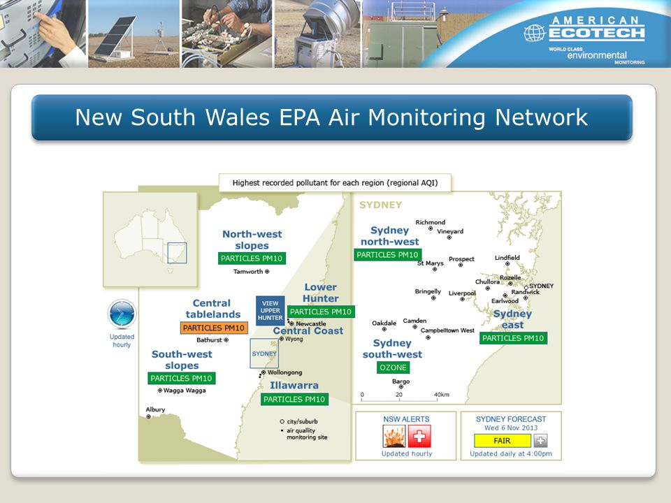 New South Wales EPA Air Monitoring Network