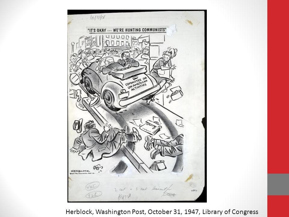 Herblock, Washington Post, October 31, 1947, Library of Congress