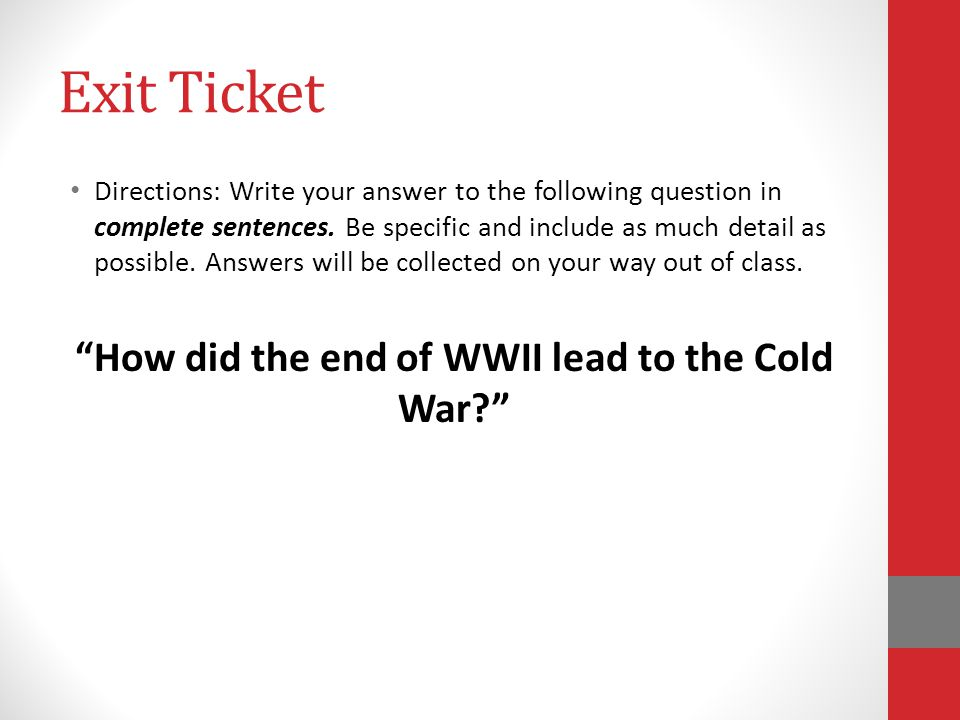 Unit 1: The Cold War Do Now: Create a Do Now page in your notebook – answer all Unit 1 Do Now questions on that page.