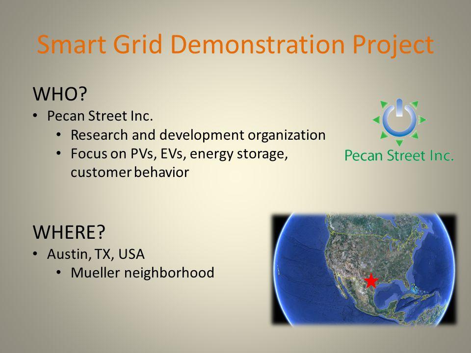 Smart Grid Demonstration Project WHO. Pecan Street Inc.