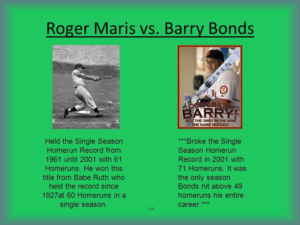 Roger Maris vs.