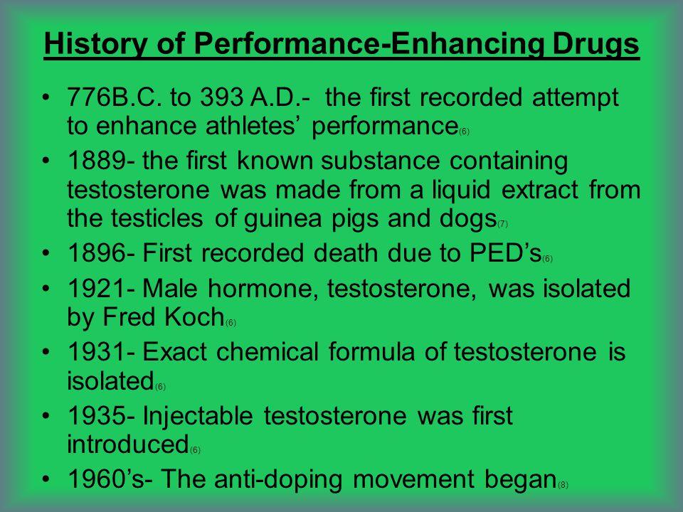 History of Performance-Enhancing Drugs 776B.C.