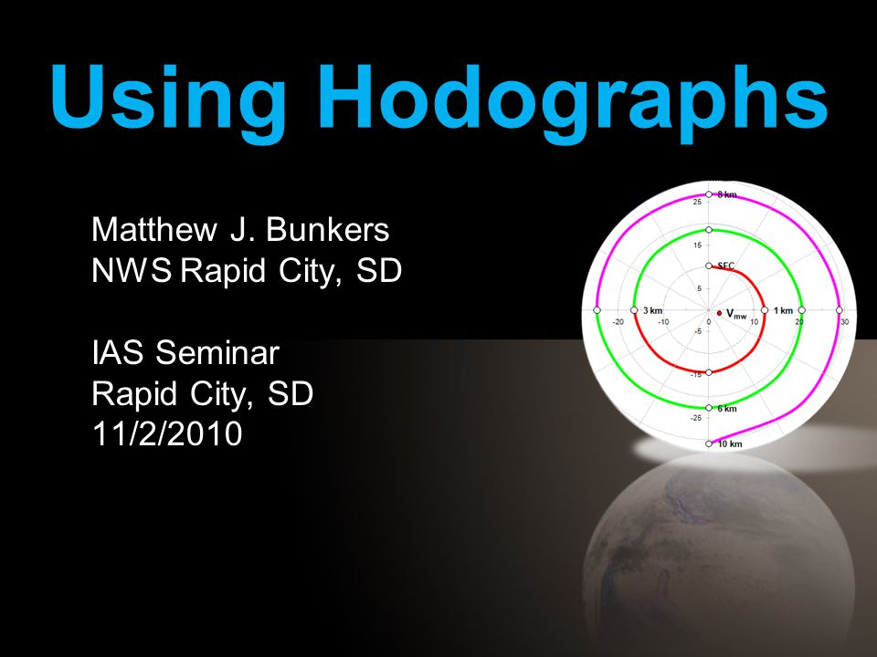 Using Hodographs Matthew J. Bunkers NWS Rapid City, SD IAS Seminar Rapid City, SD 11/2/2010