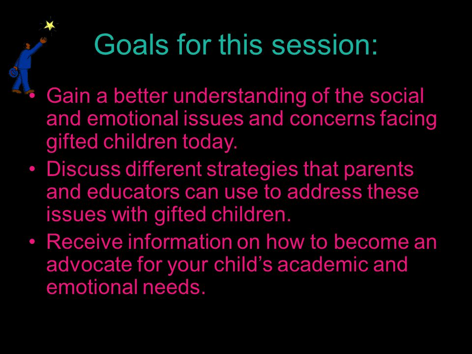 Ways to Support Perfectionists Allow students to experience failure within a safe environment – be there to support the learning and the struggle Compliment the effort and process of thinking involved in completing a task – not the product or outcome Let your child know that you understand his/her desire to do well and recognize his/her fear of goofing up/failing Help teach time management and organizational skills (use of calendars, breaking large projects into smaller tasks) Concentrate praise on child's efforts and be sincere – do not praise every single thing the child does Avoid criticism and focus more on what your child learned during the process Do not assign tasks that are too easy or too difficult – it should be slightly challenging Do not do tasks for your children – this conveys the message that they are incompetent and creates overly-dependent children Focus on famous people who had failures before success (Thomas Edison, Einstein, J.R.R.