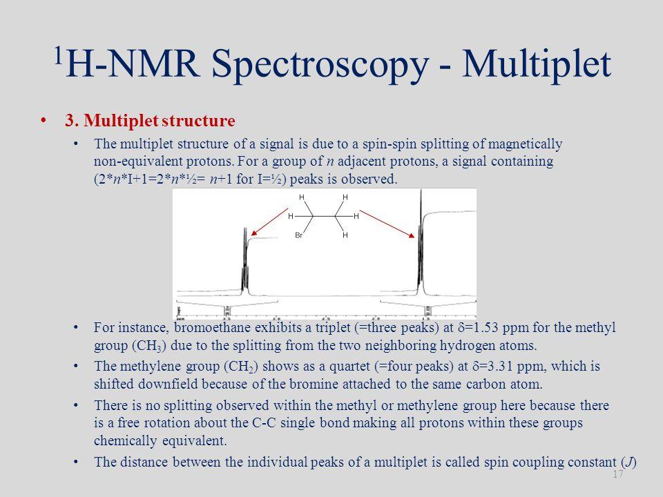 1 H-NMR Spectroscopy - Multiplet 3.