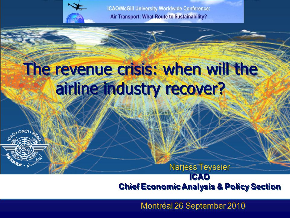 The revenue crisis: when will the airline industry recover.