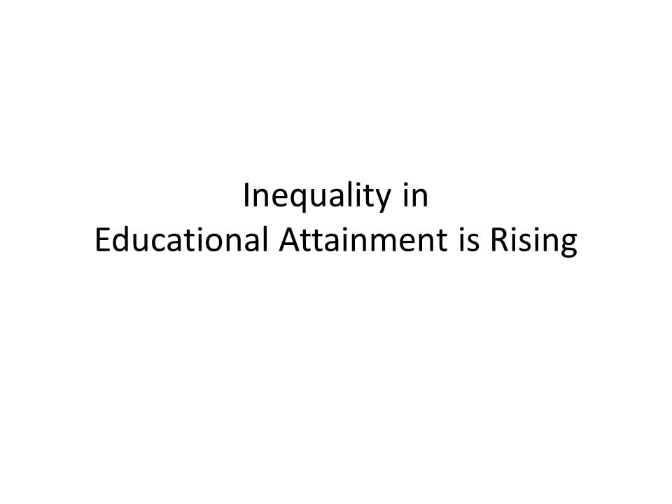 Inequality in Educational Attainment is Rising