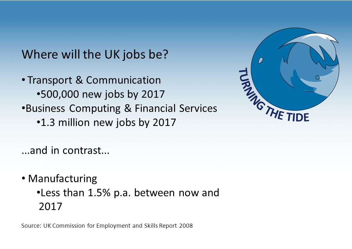 Where will the UK jobs be.