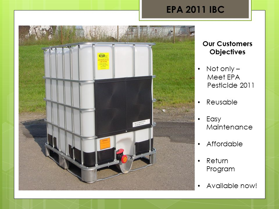Meeting EPA – Pesticide - 2011 EPA 2011 IBC