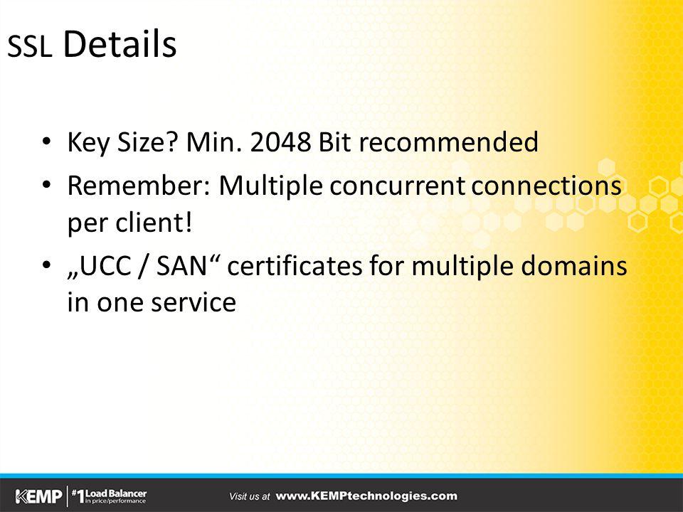 SSL Details Key Size. Min.