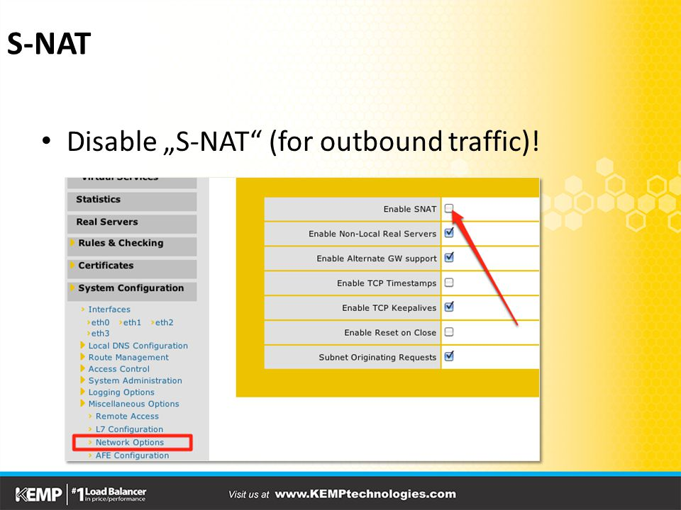 "S-NAT Disable ""S-NAT (for outbound traffic)!"