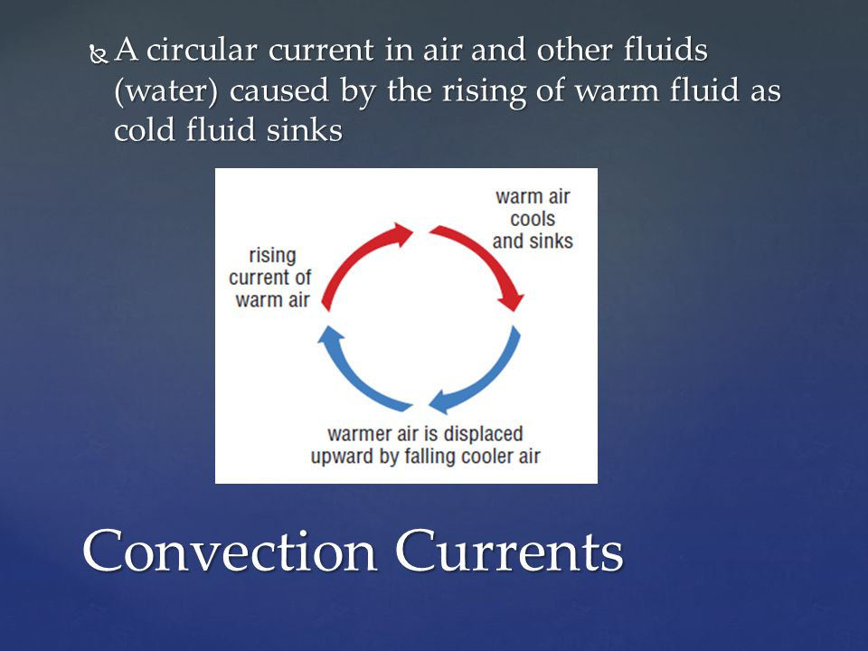  As warm air rises, it creates an area of low pressure below it  As cool air falls, it creates an area of high pressure Energy Transfer in the Atmosphere
