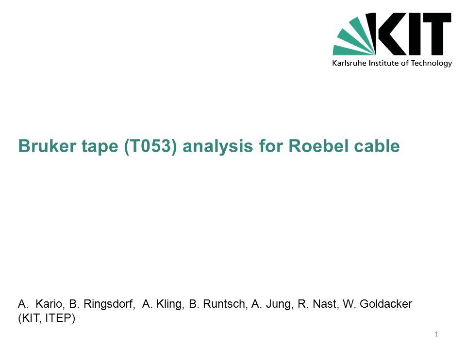 As delivered Bruker tape: 2