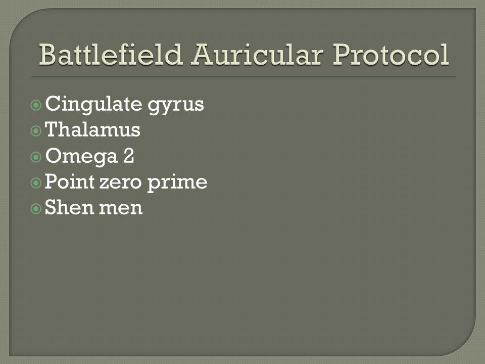  Cingulate gyrus  Thalamus  Omega 2  Point zero prime  Shen men