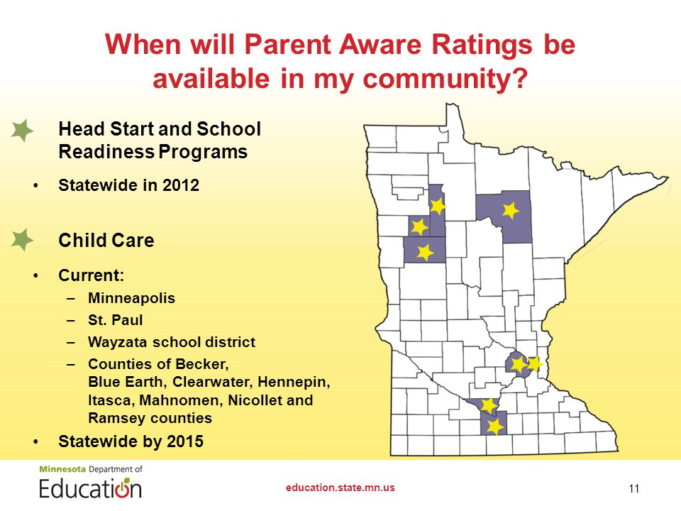 When will Parent Aware Ratings be available in my community.