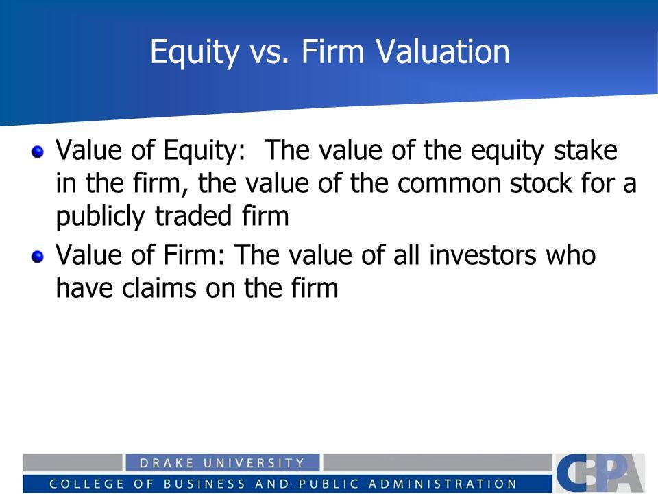 Equity vs.
