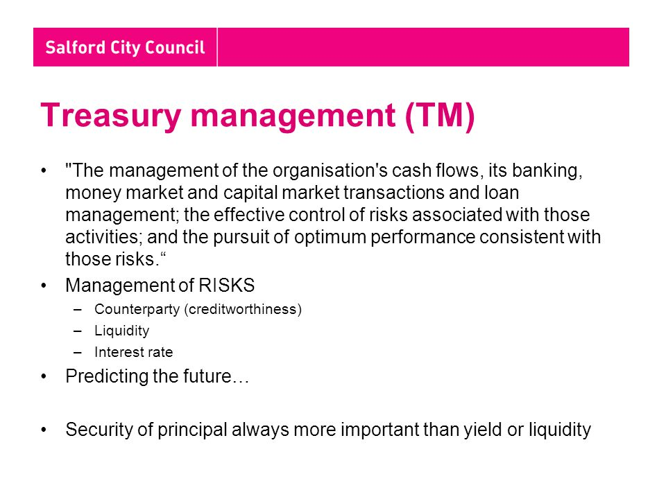 Treasury management (TM)