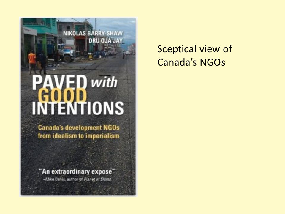 Sceptical view of Canada's NGOs