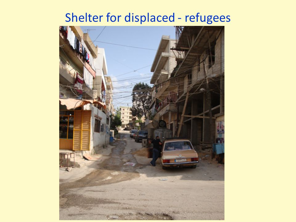 Shelter for displaced - refugees