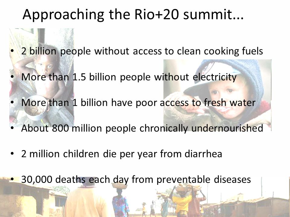 15 Approaching the Rio+20 summit...
