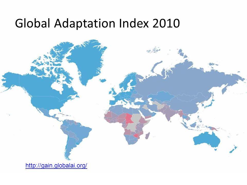 Global Adaptation Index 2010 http://gain.globalai.org/