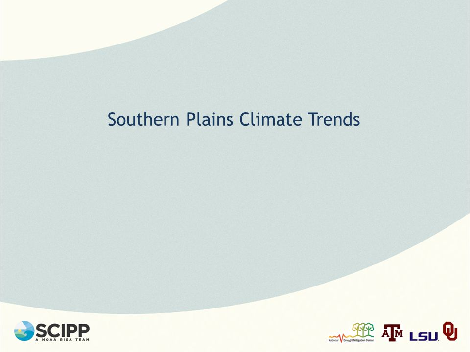 Southern Plains Climate Trends