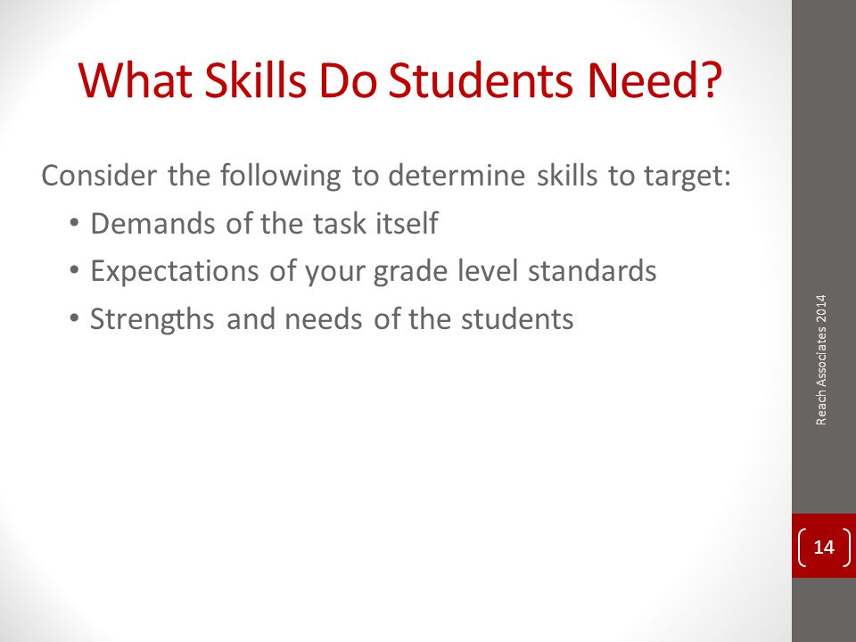 What Skills Do Students Need.
