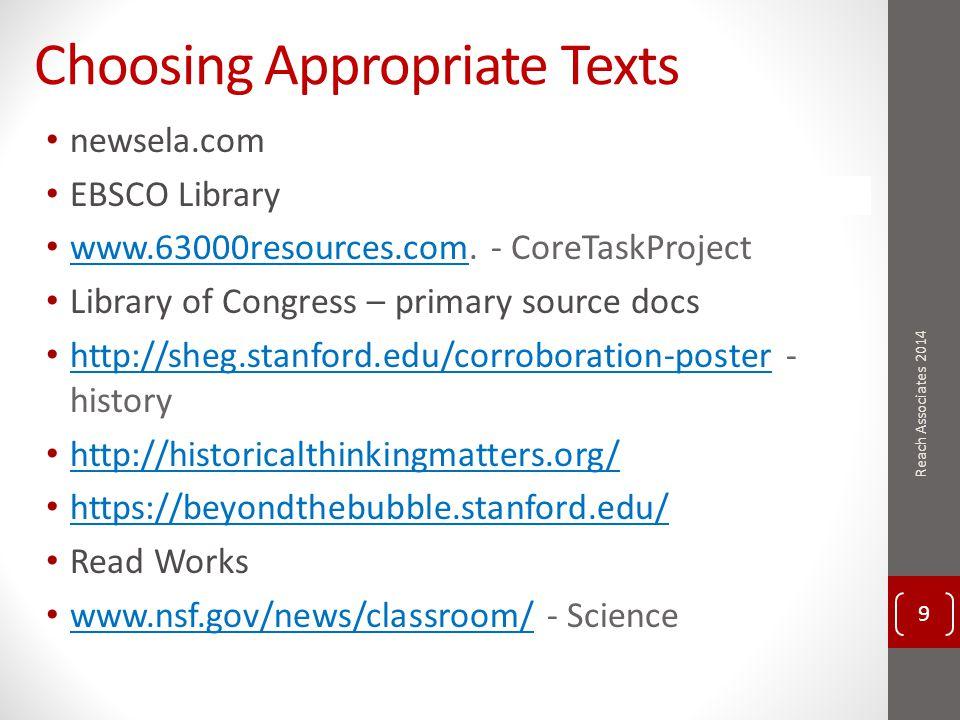 Work Session Write 2 nd module Revise 1 st module Score student work 60 Reach Associates 2014