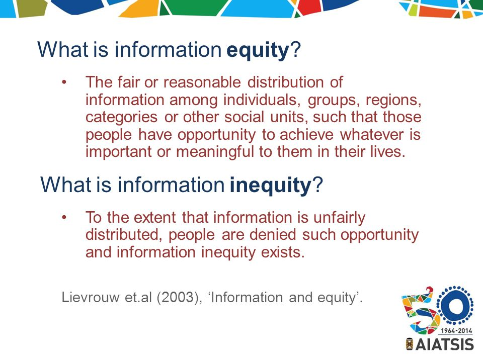 What is information equity.