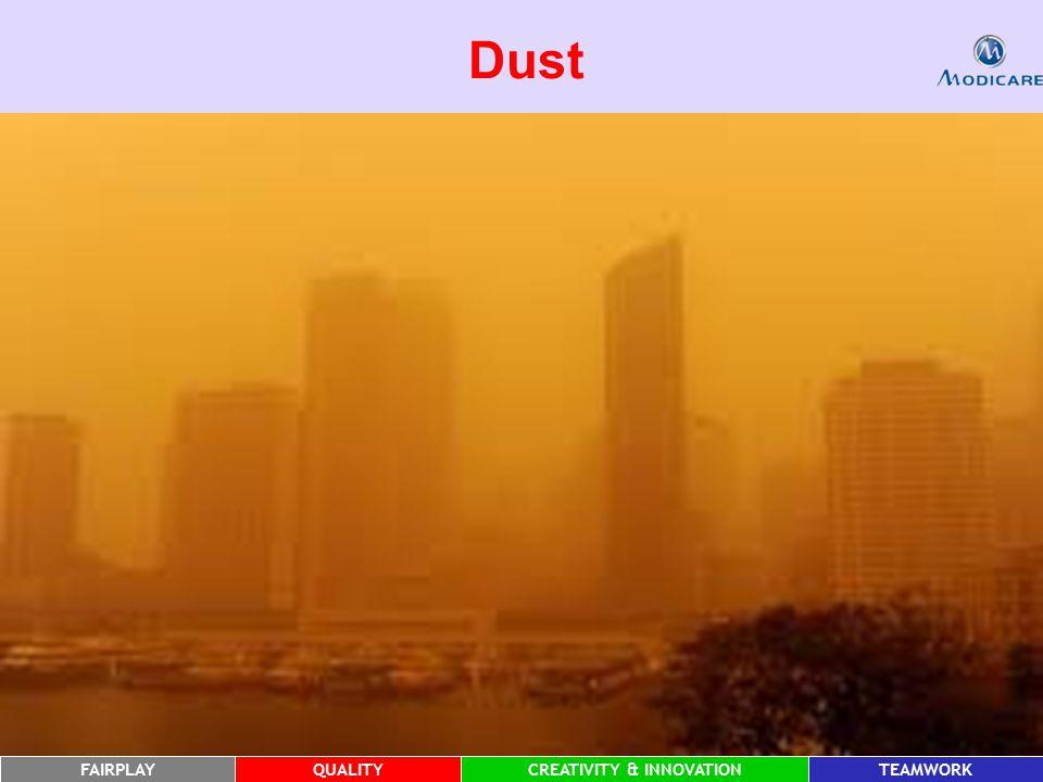 FAIRPLAYQUALITYCREATIVITY & INNOVATIONTEAMWORK Dust