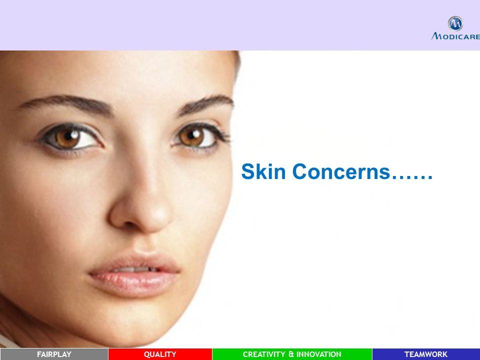 FAIRPLAYQUALITYCREATIVITY & INNOVATIONTEAMWORK Skin Concerns……