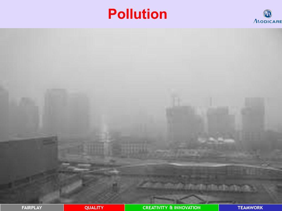 FAIRPLAYQUALITYCREATIVITY & INNOVATIONTEAMWORK Pollution