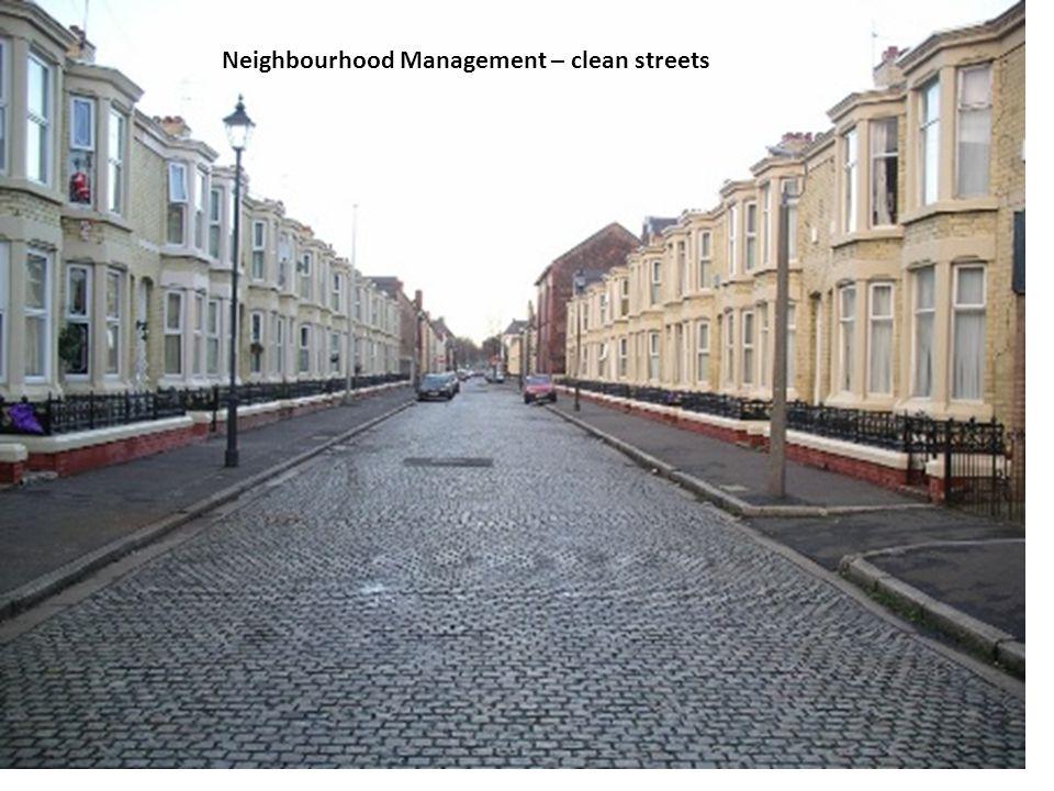 Neighbourhood Management – clean streets