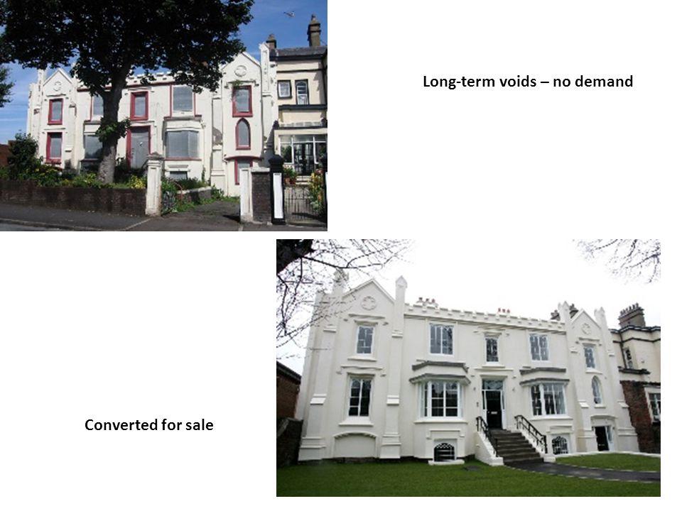 Long-term voids – no demand Converted for sale