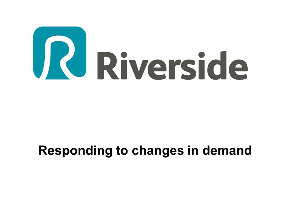 Responding to changes in demand