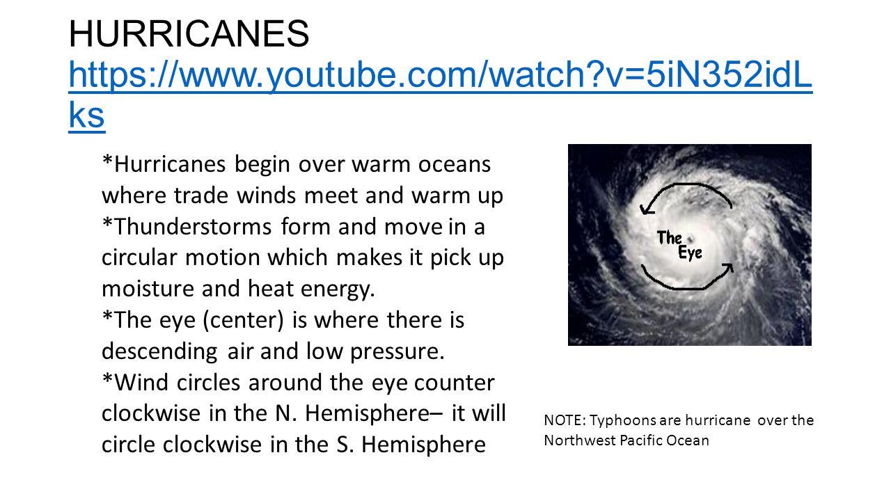 HURRICANE CATEGORIES https://www.youtube.com/watch?v=nIWz60X MliE https://www.youtube.com/watch?v=nIWz60X MliE