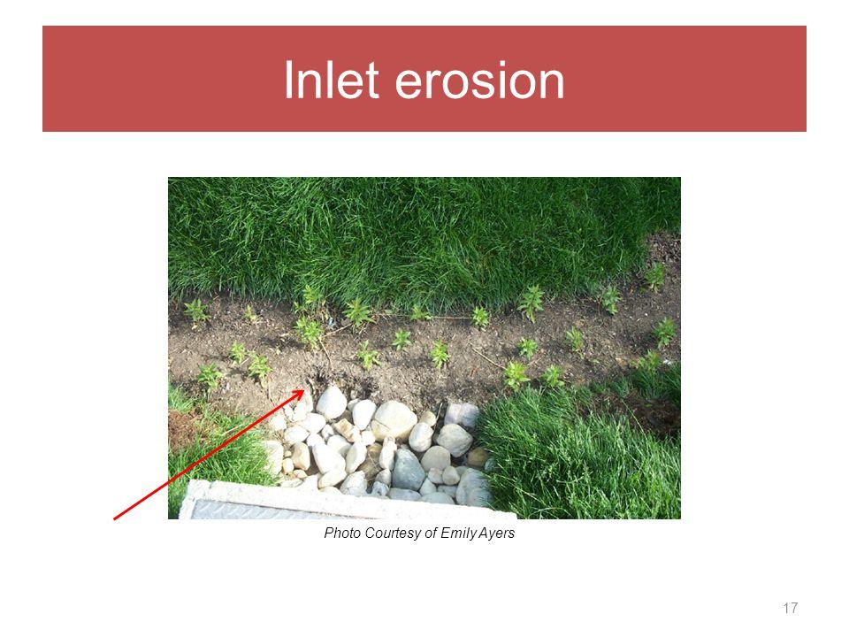 Inlet erosion 17 Photo Courtesy of Emily Ayers