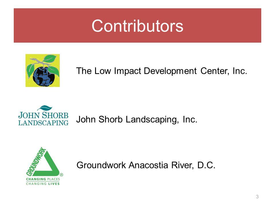 Contributors 3 The Low Impact Development Center, Inc.