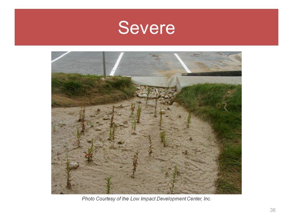 Severe 36 Photo Courtesy of the Low Impact Development Center, Inc.