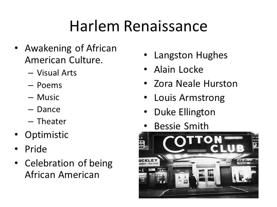 Harlem Renaissance Awakening of African American Culture.