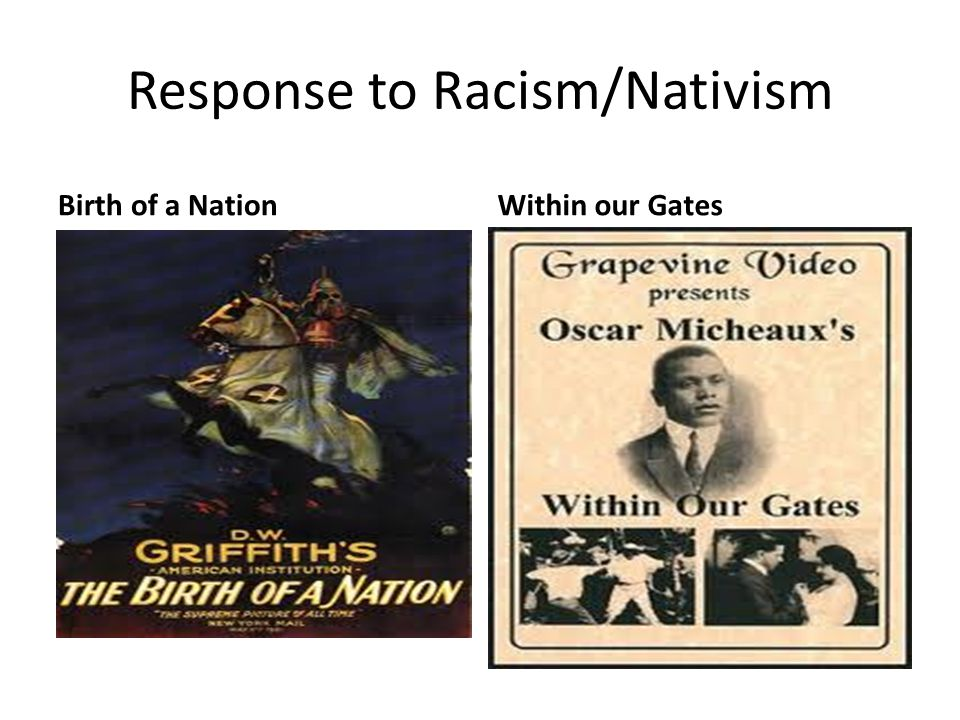 Response to Racism/Nativism Birth of a NationWithin our Gates