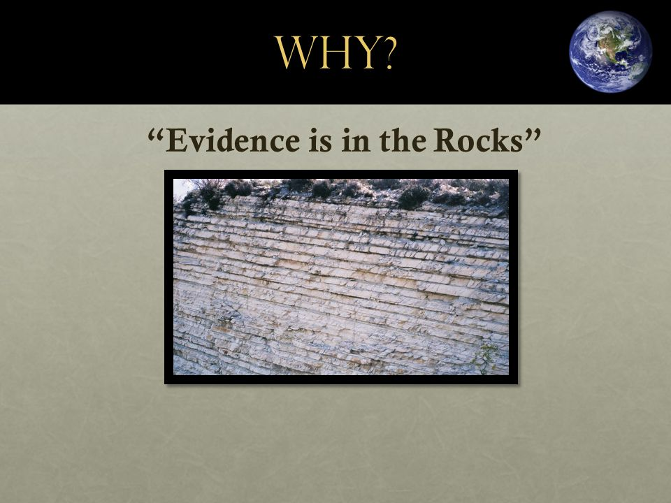 WHY? Evidence is in the Rocks