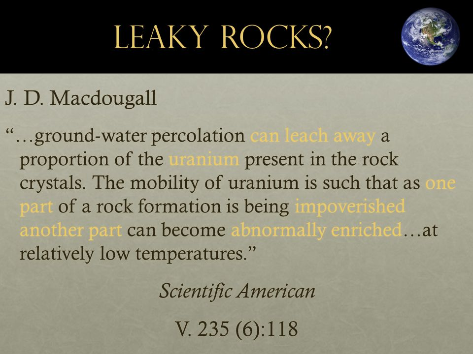 Leaky Rocks. J. D.