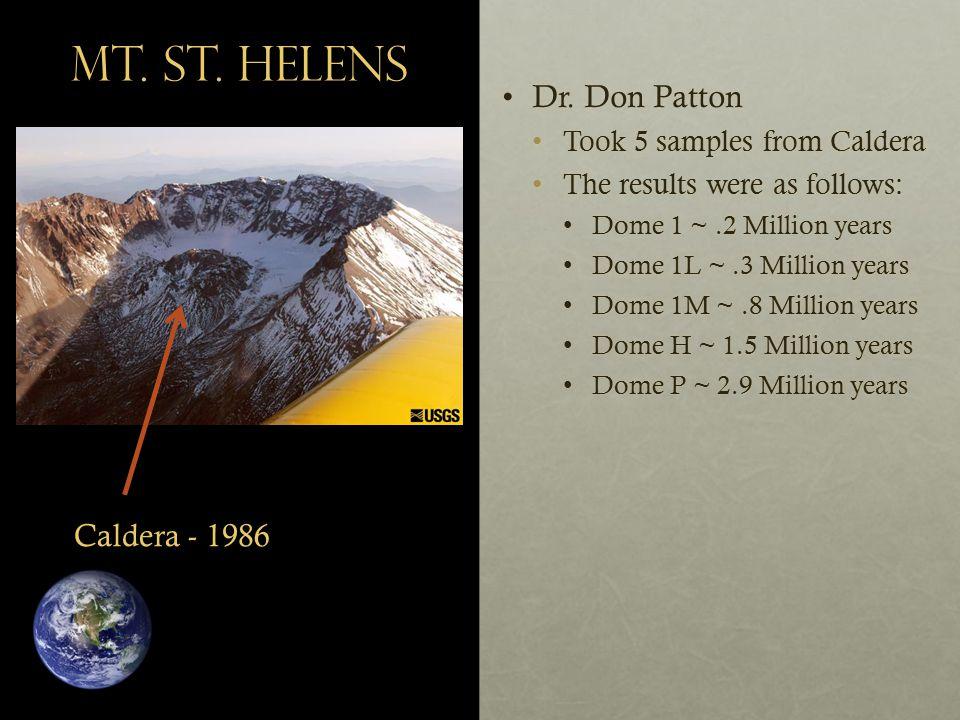 Mt. St. Helens Dr. Don PattonDr.