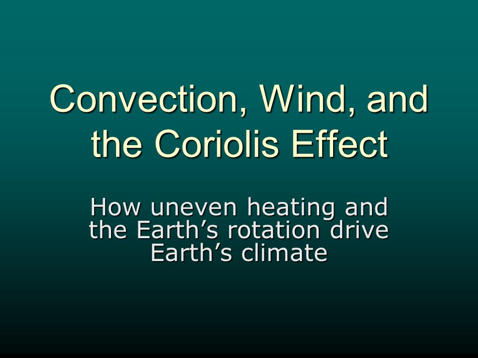 Coriolis Effect Significance of Wind Belts.