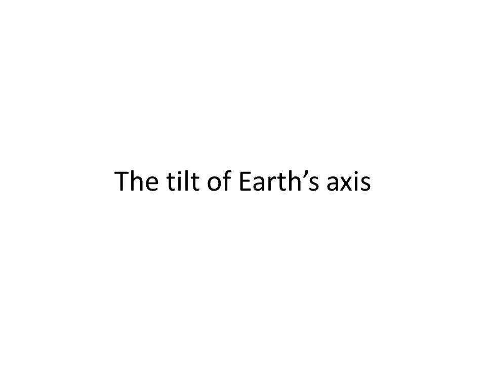 The tilt of Earth's axis