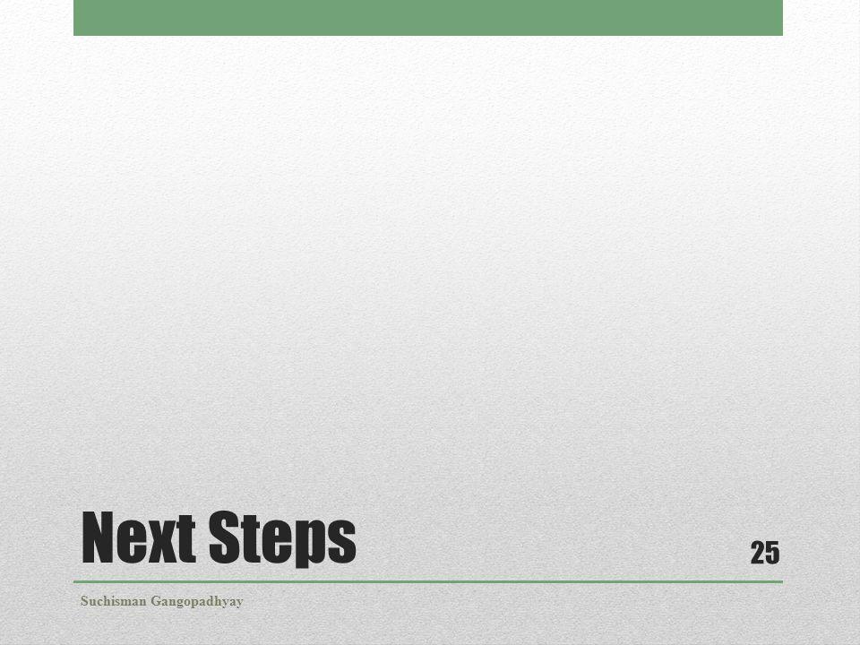 Next Steps Suchisman Gangopadhyay 25