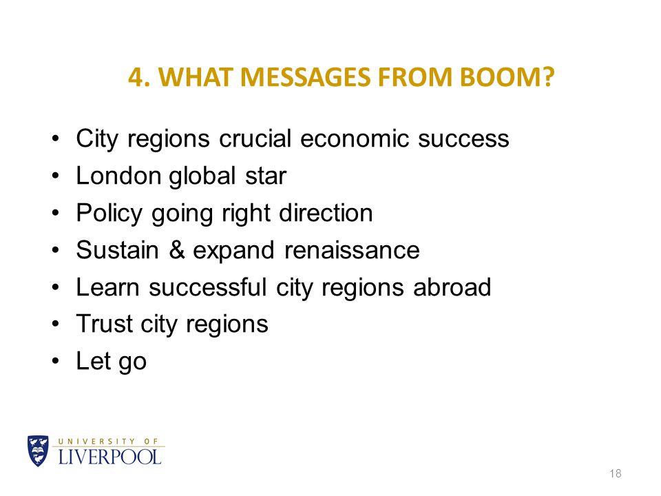 18 4. WHAT MESSAGES FROM BOOM.